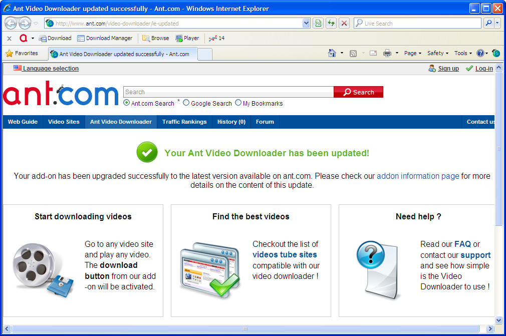 Ant video downloader: dead easy tool for downloading online video.
