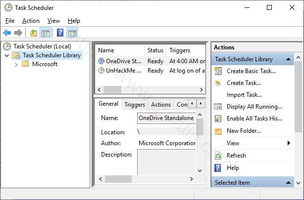 Remove malicious scheduled tasks