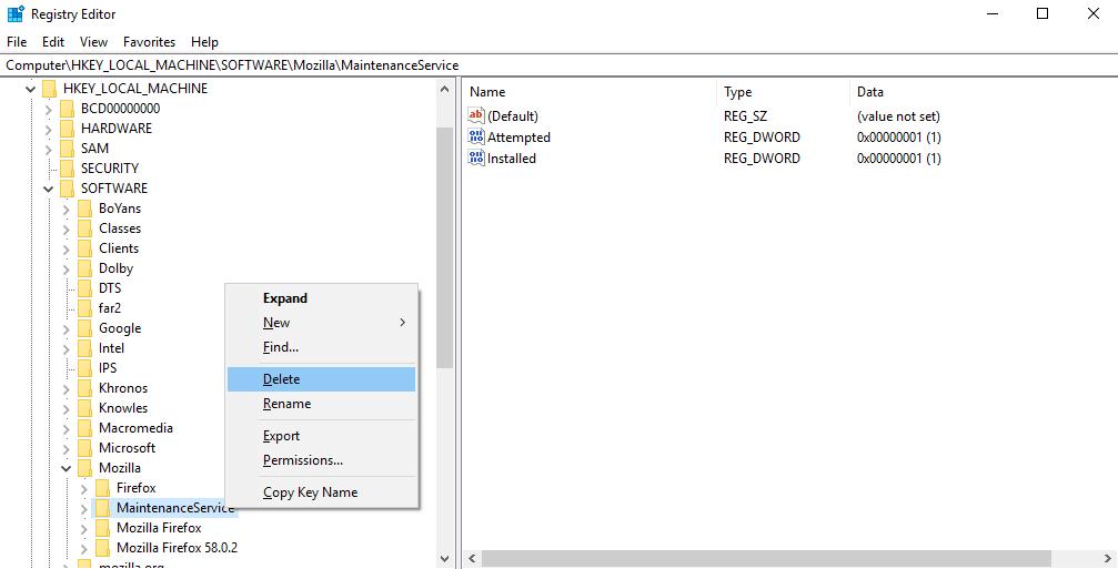 run registry editor to find